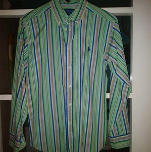 Ralph Lauren Boys striped oxford button shirt